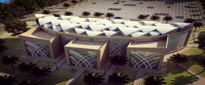 The Central Library - PSAU Campus in Al-Kharj